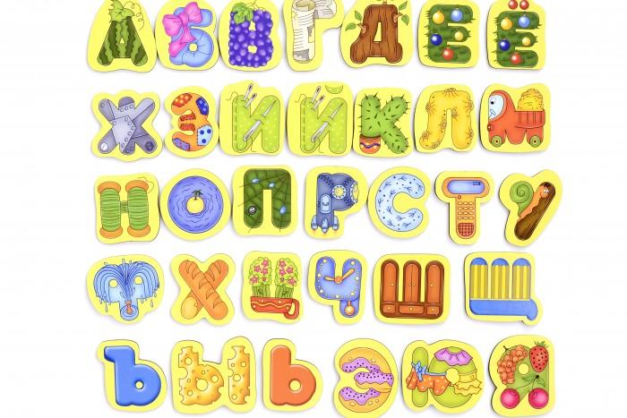 Купить Деревянные игрушки, Деревянная игрушка Paremo Игровой набор Алфавит русский