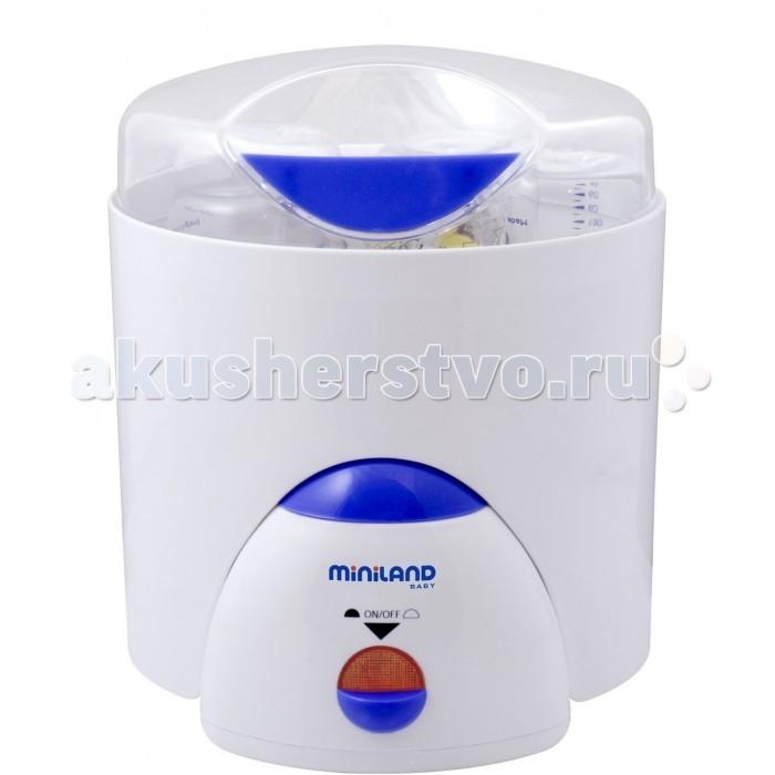 Miniland Нагреватель-пароварка-стерилизатор Super 3 DecoНагреватель-пароварка-стерилизатор Super 3 Deco3 в 1: нагреватель, пароварка, стерилизатор.  Обладает всем функциями для здорового питания. Стерилизатор и генератор пара имеет 3 различных функции: нагревание от одной до шести бутылочек за один раз, стерилизация бутылочек с сосками и принадлежностями и приготовление пищи на пару. Оптимален для детей, поскольку используется только пар, никакие химические вещества не применяются. Удобен при транспортировке и хранении.  Особенности: Функция подогрева бутылочек. Подходит для стерилизации до 6 бутылочек, сосок и принадлежностей к ним одновременно. Функция пароварки. Удобная подставка для варки яиц. Нагревательная поверхность изготовлена из нержавеющей стали. Простой в эксплуатации и уходе. Удобен при хранении и транспортировке. Сделан из экологически чистых материалов. Автоматически отключается при полном испарении воды из чаши. Время подогрева: 4 мин. Время стерилизации: 14 мин. Размеры ВхШхГ: 22,5x28x23 см Вес: 1,81 кг   Подогреватель детского питания быстро и безопасно подогреет сцеженное молоко, молочную смесь либо детское питание, равномерно и бережно, без излишнего нагрева, с сохранением всех витаминов. Подогреватель чрезвычайно удобен для приготовления питания ночью.   Стерилизатор позволит без лишних затрат времени и усилий соблюсти режим гигиены питания младенца. Высокотемпературная обработка бутылочек , сосок и принадлежностей для кормления гарантирует уничтожение с их поверхности всех болезнетворных бактерий и микробов.   Пароварка - устройство, позволяющее приготовить блюдо на пару. Такое питание отличается исключительной полезностью и легкостью усвояемости для организма ребенка, что подтверждается рекомендациями диетологов и педиатров.<br>