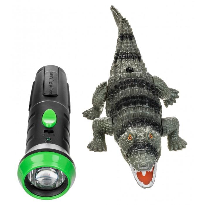 Радиоуправляемые игрушки Ocie Робо-крокодил с ИК пультом-фонариком OTC0862943 роботы ocie робо ящерица с ик управлением