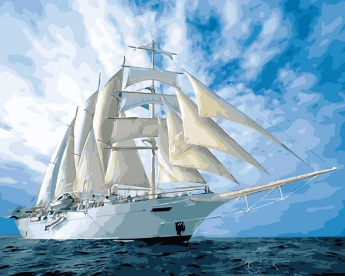 Купить Картины по номерам, Paintboy Картина по номерам Белые паруса 40х50 см