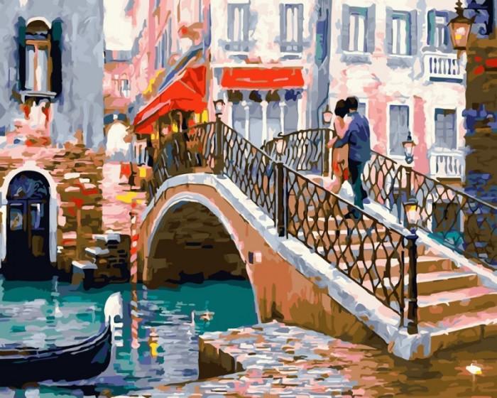 Купить Картины по номерам, Paintboy Картина по номерам Свидание на мосту 40х50 см