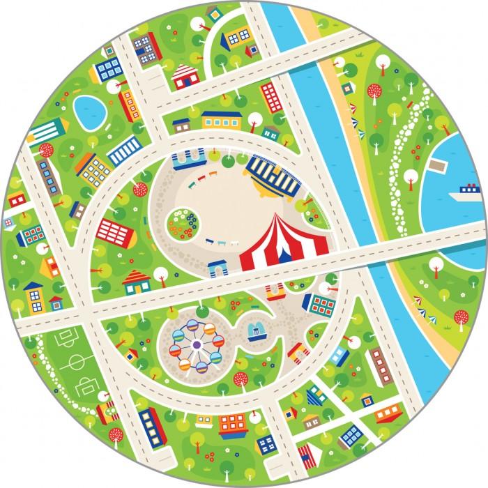 Игровой коврик Wolli Matlig плюшевый Маленький город 3 в 1 120 см
