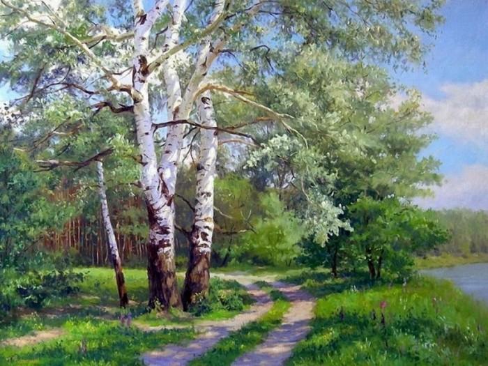Купить Картины по номерам, Paintboy Картина по номерам Во поле береза 40х50 см