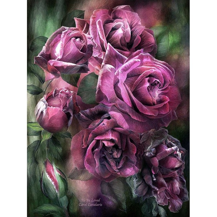 Купить Картины по номерам, Paintboy Картина по номерам Лиловые розы 40х50 см