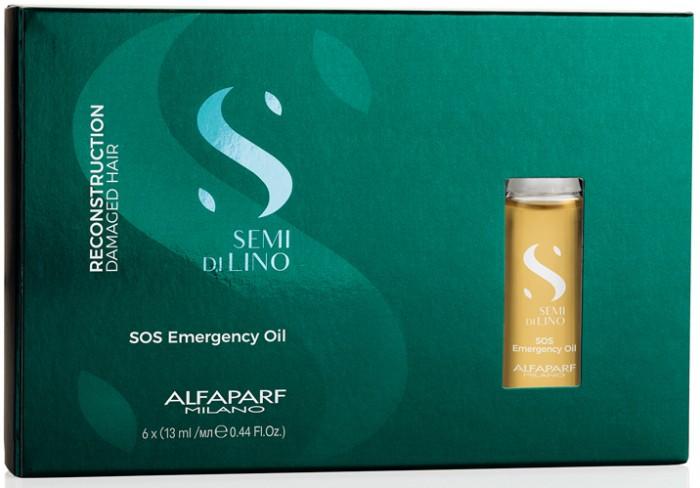 Косметика для мамы Alfaparf Масло, восстанавливающее структуру волос SDL R SOS Emergency oil 6 ампул по 13 мл