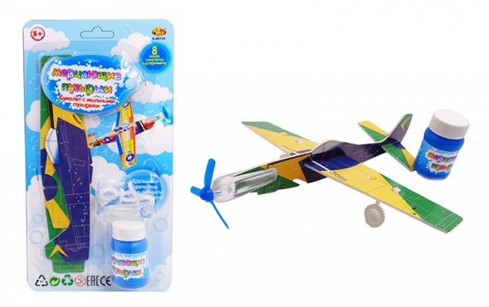 Мыльные пузыри ABtoys Мыльные пузыри Мерцающие пузырьки Самолет 25 мл самолет планер abtoys в ассортименте