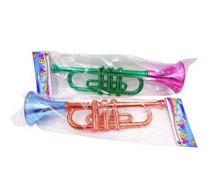 Музыкальные инструменты ABtoys Труба 38x10х14 см краски abtoys
