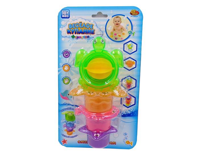 Игрушки для ванны ABtoys Веселое купание Черепаха-мельница с аксессуарами (4 предмета)