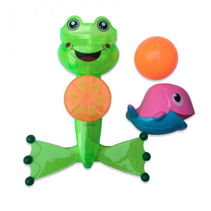 Игрушки для ванны ABtoys Веселое купание Лягушка-мельница с аксессуарами
