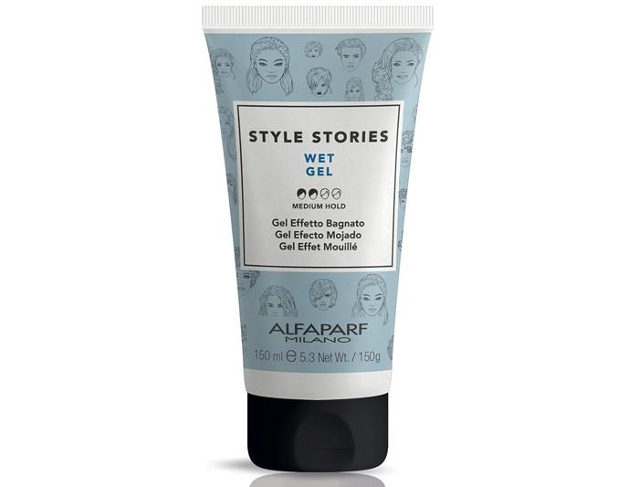 Косметика для мамы Alfaparf Гель средней фиксации эффекта мокрых волос Wet gel 150 мл