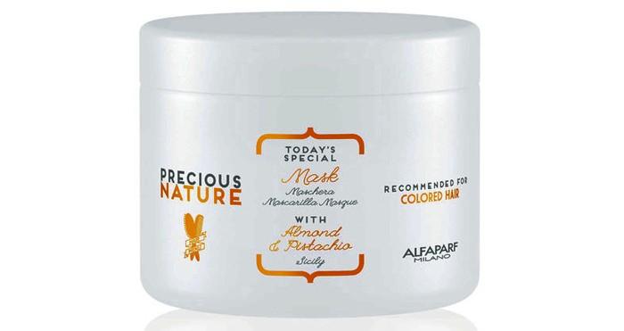 Косметика для мамы Alfaparf Маска для окрашенных волос Precious nature pure color protection mask 500 мл