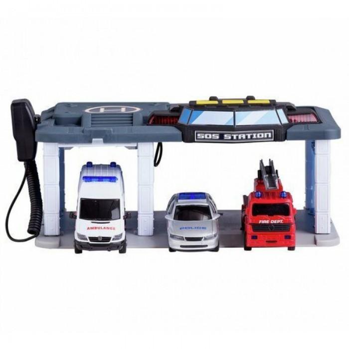 Игровые наборы Dickie Набор: спасательный центр и 3 машинки