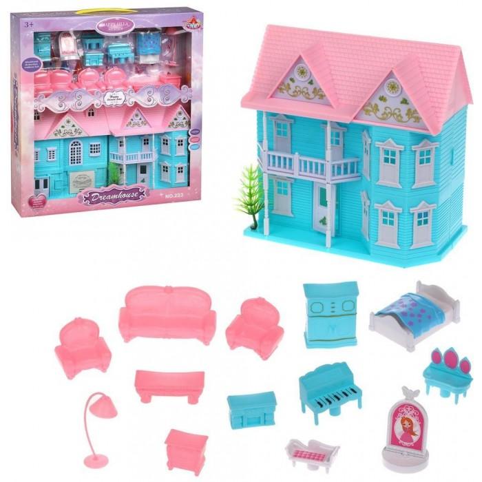 Картинка для Кукольные домики и мебель Наша Игрушка Кукольный домик с мебелью (15 предметов)