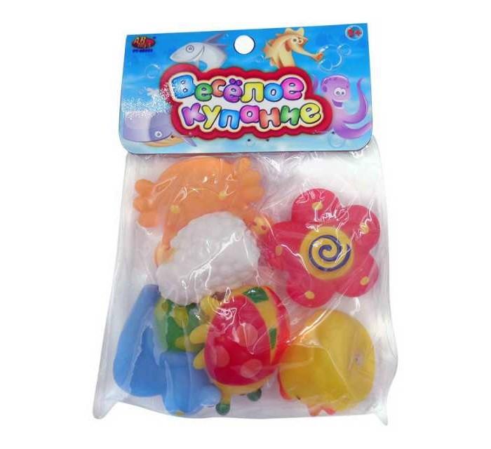 Игрушки для ванны ABtoys Веселое купание Набор резиновых игрушек (6 предметов)