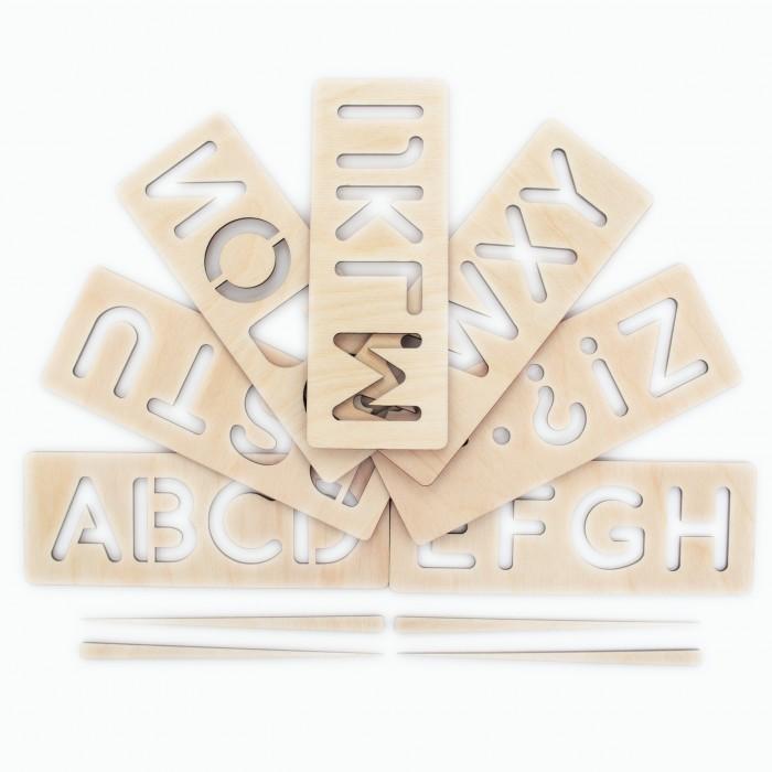 Деревянные игрушки Сибирские игрушки Трафарет №2 Английский алфавит