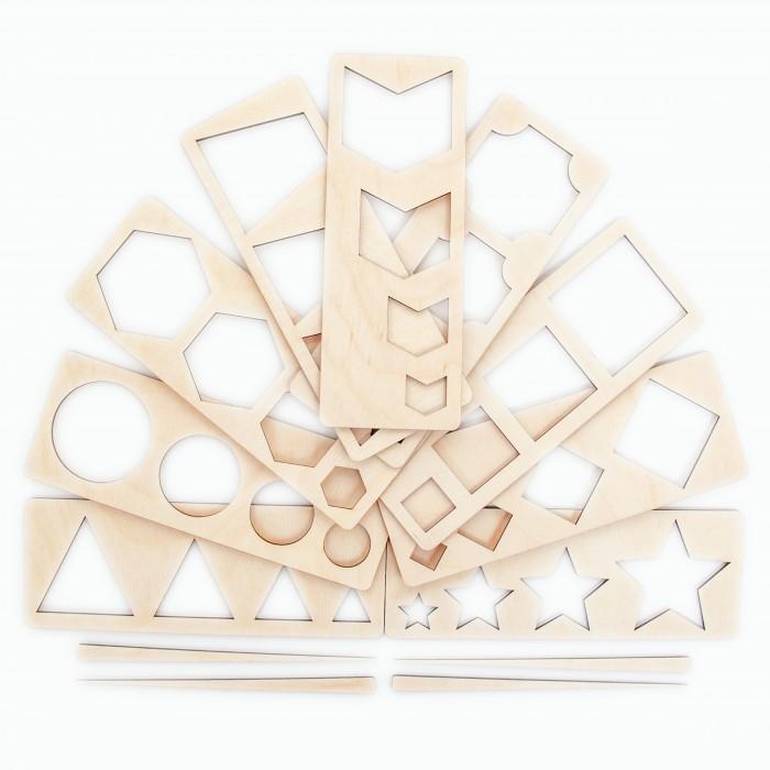 Деревянные игрушки Сибирские игрушки Трафарет №3 Геометрические фигуры
