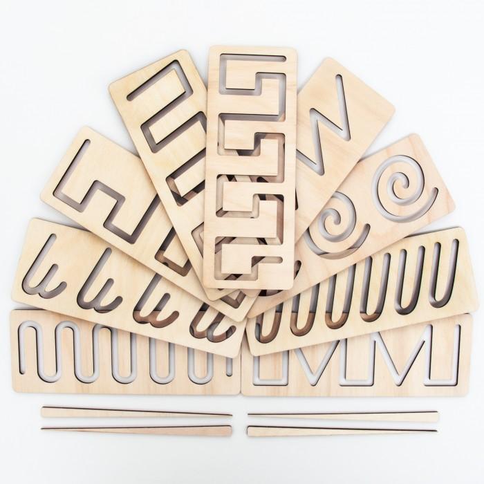 Деревянные игрушки Сибирские игрушки Трафарет №6 Дорожки №3