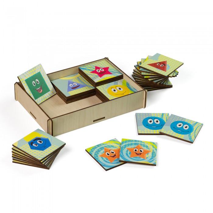 Деревянная игрушка Сибирские игрушки Мемори Геометрия