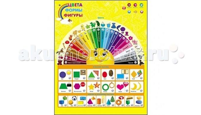Обучающие плакаты Рыжий кот Звуковой плакат Цвета, формы, фигуры обучающие плакаты маленький гений плакат геометрические формы