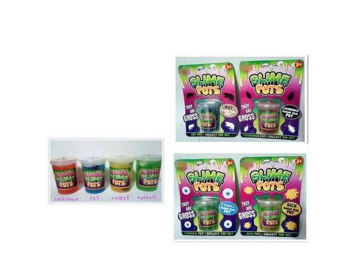 Развивающие игрушки Junfa Антистресс Лизун Slime pots
