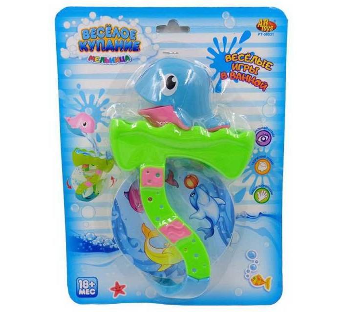 Игрушки для ванны ABtoys Веселое купание Дельфин с аксессуарами (2 предмета)