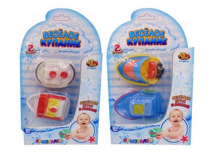 Игрушки для ванны ABtoys Веселое купание Катер-брызгалка 2 шт.