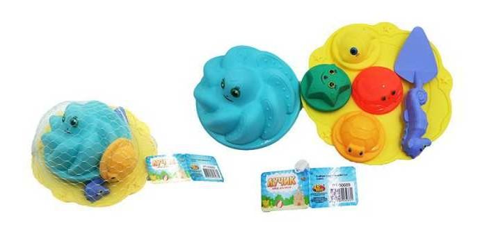 Игрушки в песочницу ABtoys Лучик Набор для песка (7 предметов) PT-00689пц