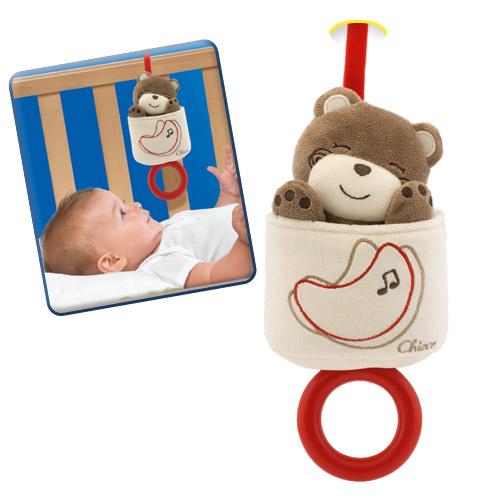 Подвесные игрушки Chicco музыкальная для кроватки Мягкий мишка chicco музыкальная игрушка волшебное зеркальце белоснежки chicco