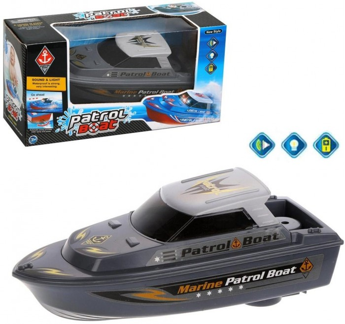 Игрушки для ванны Наша Игрушка Патрульный катер 6691A