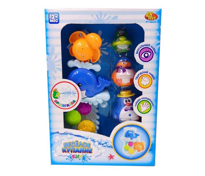Игрушки для ванны ABtoys Игрушки для ванной Веселое купание в наборе с аксессуарами (5 предметов)