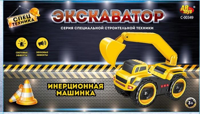 Машины ABtoys Спецтехника Машинка инерционная Экскаватор машинка спецтехника инерция подвижные элементы в пакете 14 5 7 25 5 см