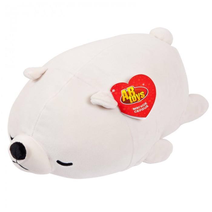 Купить Мягкие игрушки, Мягкая игрушка ABtoys Медвежонок полярный 27 см