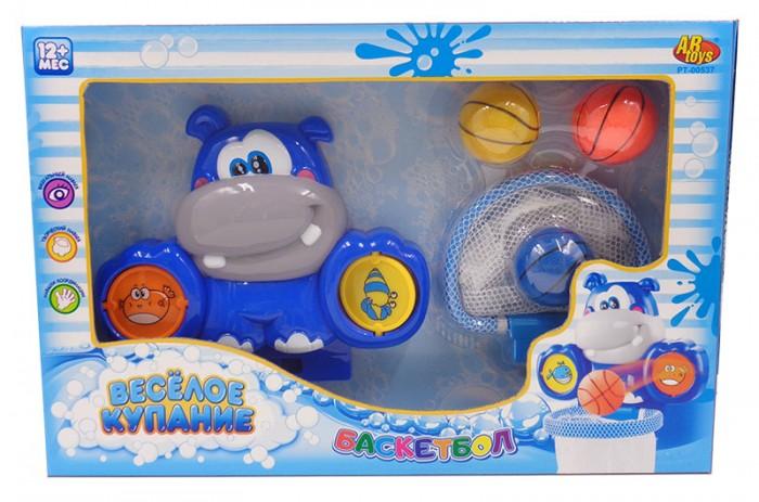 Игрушки для ванны ABtoys Водный баскетбол для ванной Веселое купание с аксессуарами (6 предметов)