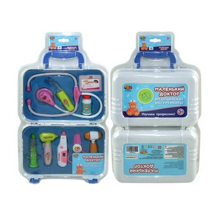Ролевые игры ABtoys Набор Маленький доктор в чемодане (9 предметов)