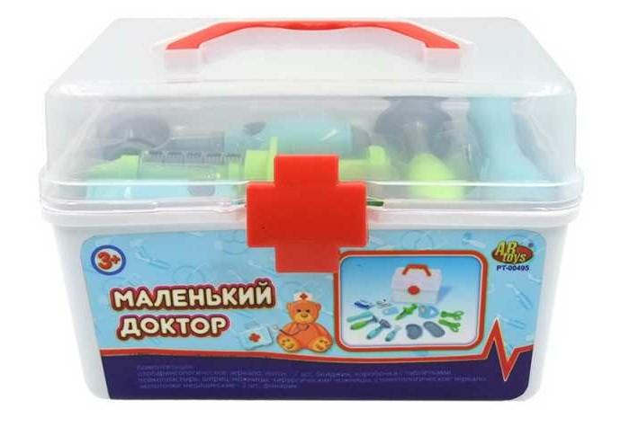 Ролевые игры ABtoys Набор Маленький доктор в чемоданчике (13 предметов)