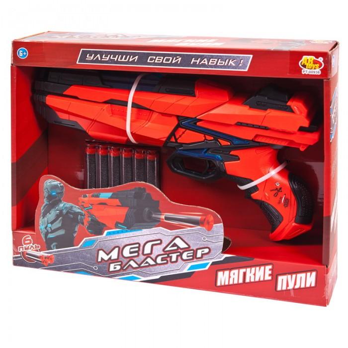 Картинка для ABtoys Мегабластер, стреляющий мягкими снарядами 6 шт.