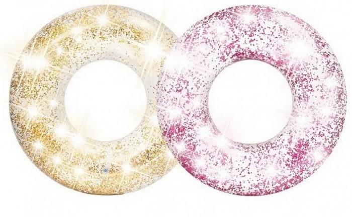 Купить Круги и нарукавники для плавания, Intex Круг надувной Transparent glitter