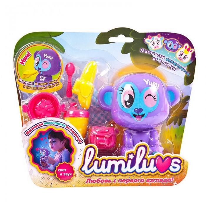 Интерактивная игрушка ABtoys Ночник Lumiluvs Обезьянка Lulu с аксессуарами