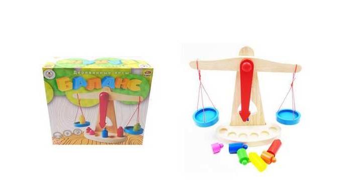 Деревянные игрушки ABtoys Весы Баланс