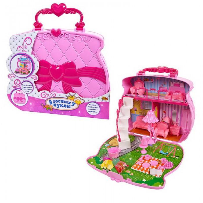 ABtoys В гостях у куклы Домик-сумка с аксессуарами фото