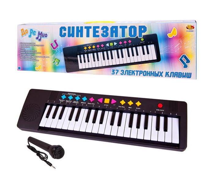Музыкальный инструмент ABtoys Синтезатор (пианино электронное) с микрофоном фото