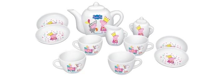 Ролевые игры Свинка Пеппа (Peppa Pig) Набор посуды Королевское чаепитие peppa pig playing football