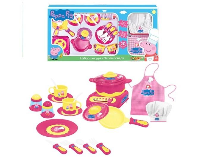 Ролевые игры Свинка Пеппа (Peppa Pig) Набор посуды Пеппа-повар игровой набор peppa pig набор посуды пеппа повар 20 предметов