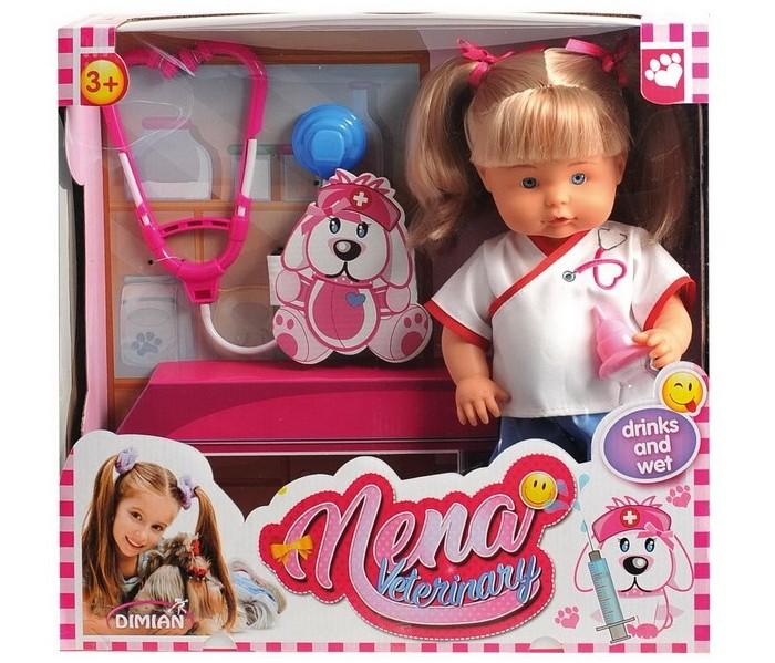 Куклы и одежда для кукол Dimian Кукла Nena ветеринар 36 см куклы и одежда для кукол dimian кукла пупс bambina bebe 42 см