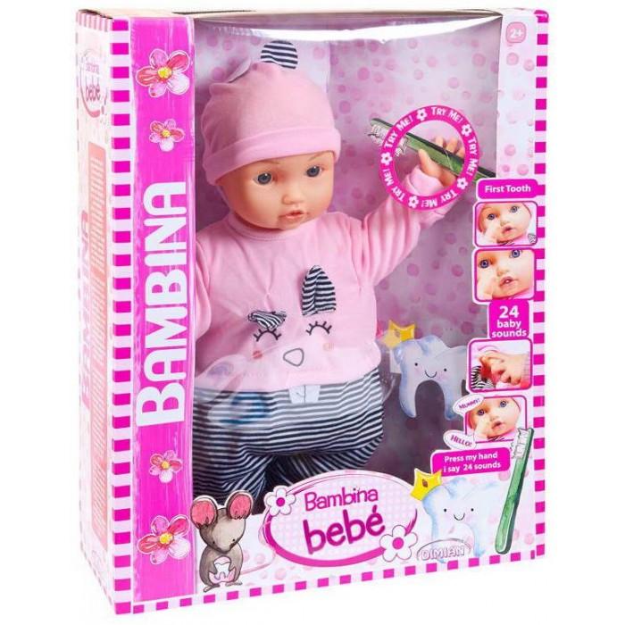Купить Куклы и одежда для кукол, Dimian Кукла-пупс Bambina Bebe Мой первый зуб 46 см
