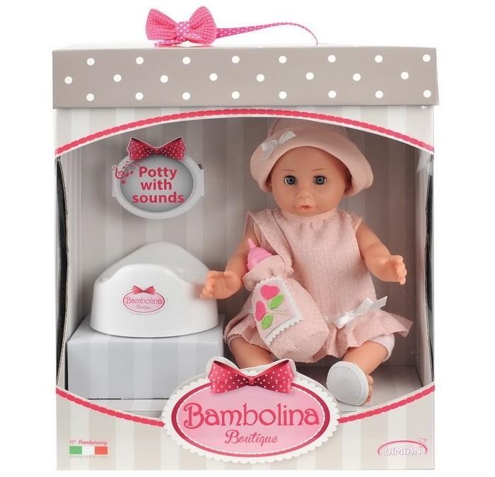 Куклы и одежда для кукол Dimian Кукла-пупс Boutique с горшком 36 см куклы и одежда для кукол dimian кукла пупс bambina bebe 42 см