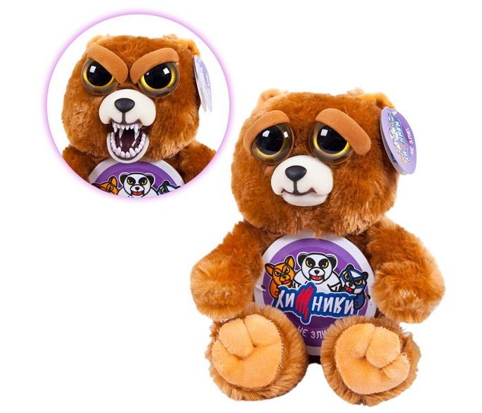 Картинка для Мягкая игрушка ABtoys Медведь бурый Хищники 20 см