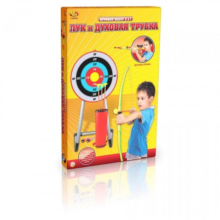 ABtoys Лук со стрелами на присосках и духовая трубка в наборе от ABtoys