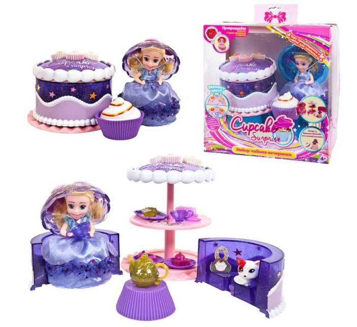 Игровые наборы Emco Cupcake Surprise Набор Чайная вечеринка с куклой-капкейк и питомцем