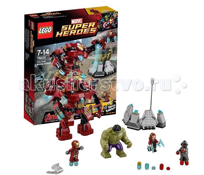 Конструктор Lego Super Heroes 76031 Лего Супер Герои Разгром ХалкбастераSuper Heroes 76031 Лего Супер Герои Разгром ХалкбастераКонструктор Lego Super Heroes 76031 Лего Супер Герои Разгром Халкбастера  Конструктор Lego Super Heroes® собирается из 248 деталей, включает 4 минифигурки.  Халк не смог справиться с армией Альтрона, и его захватили в плен. Чтобы удержать Халка, его посадили в специальную энергетическую клетку. Железный Человек, одетый в костюм Марк 3, отправляется ему на выручку.  К сожалению, в стандартном костюме Тони Старк не может противостоять армии Альтрона, поэтому он решает использовать последнюю свою разработку - гигантский костюм Халкбастер. Благодаря шарнирным сочленениям, костюм получился очень подвижным - ему можно придать любую боевую позицию. Внутрь можно посадить минифигурку Железного Человека. Для этого нужно открыть бронированную пластину на груди и поднять шлем. Пальцы на руках костюма Халкбастер подвижны - ими можно схватить врага или предмет. На правой руке установлена спаренная пушка - чтобы произвести выстрел, нажмите на рычажок. Размер костюма достаточно большой - гораздо больше фигурки Халка!  3 минифигурки: Железный Человек, Альтрон, Алая Ведьма, фигурка Халка Большой подвижный костюм Халкбастер Внутрь костюма можно посадить минифигурки Шарнирная конструкция делает конечности Халкбастера подвижными, открывается кабина пилота, оснащен стреляющими орудиями В комплект входит ловушка для Халка В наборе - супер джампер   Количество деталей: 248 шт.<br>